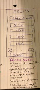Sketch showing 2nd page of app.